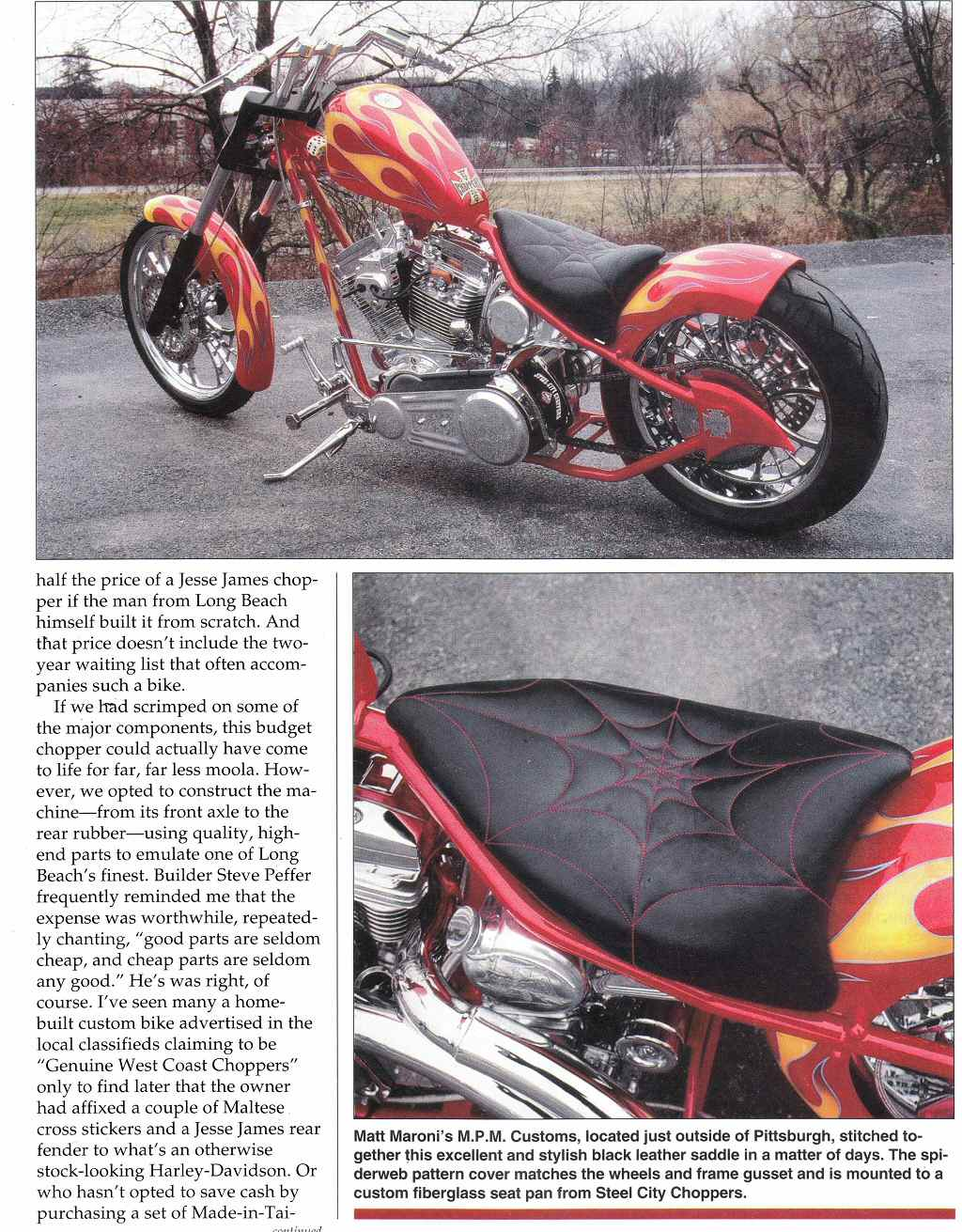West Coast Custom Chopper Build For Sale